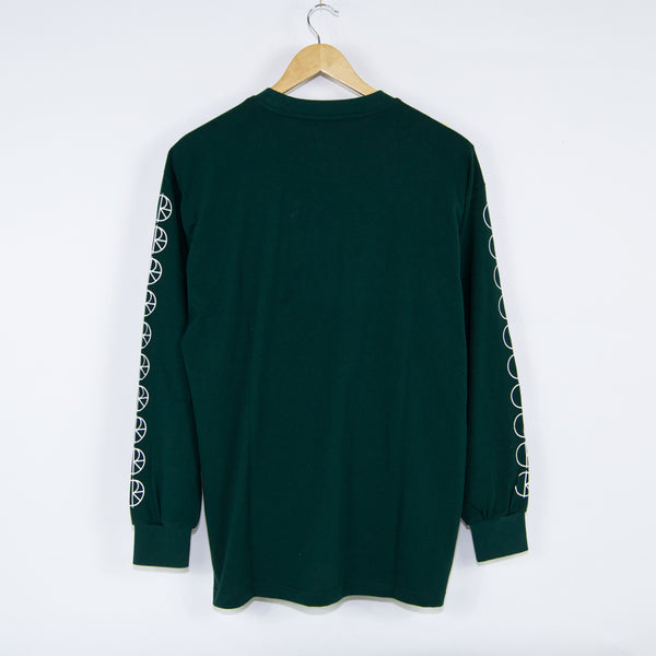 Polar Skate Co. - Polar Skate Co. - Racing Longsleeve T-Shirt - Dark Green