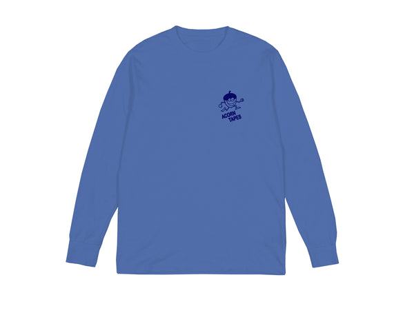 Acorn Tapes - Acorn Tapes - Running Man Long Sleeve T Shirt - Blue