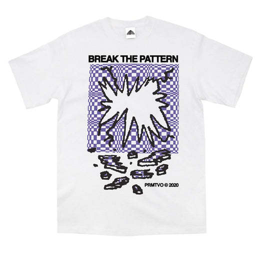 PRMTVO - Break The Pattern T-Shirt - White