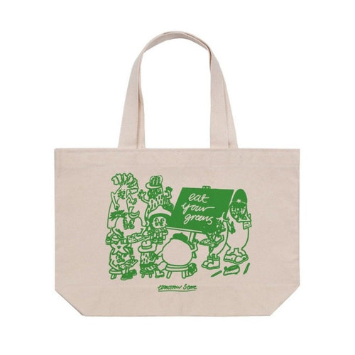 Tomorrow x Eat Your Greens - Classroom- Large Natural Tote