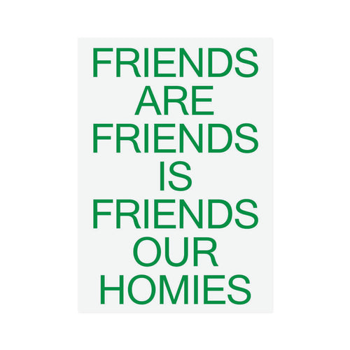 Catalogue Design - Friends Our Family A2 Print - Green