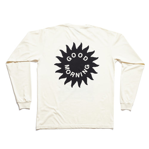 Good Morning Tapes - Energy From The Sun Long Sleeve Tee - Natural
