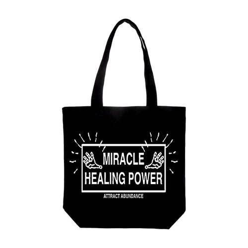 Good Morning Tapes - Miracle Healing Power Tote Bag - Black
