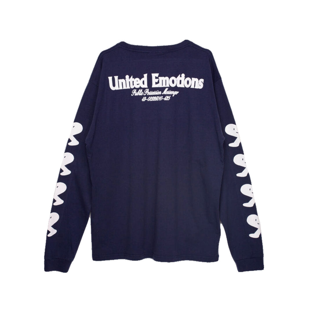 Public Possession - Public Possession - United Emotions - Long Sleeve T-Shirt - Navy