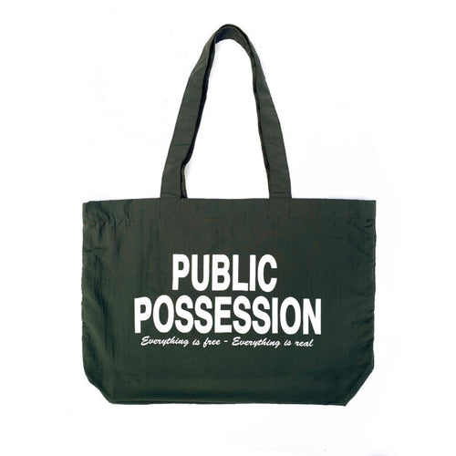 Public Possession  - Free & Real - Tote Bag - Green