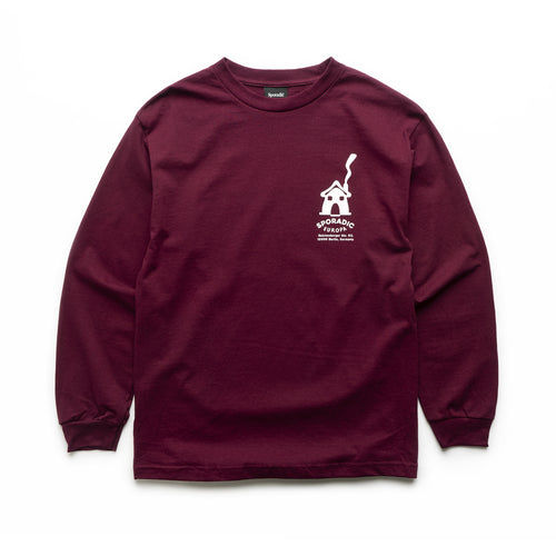 Sporadic - Europa Long Sleeve Tee - Burgundy