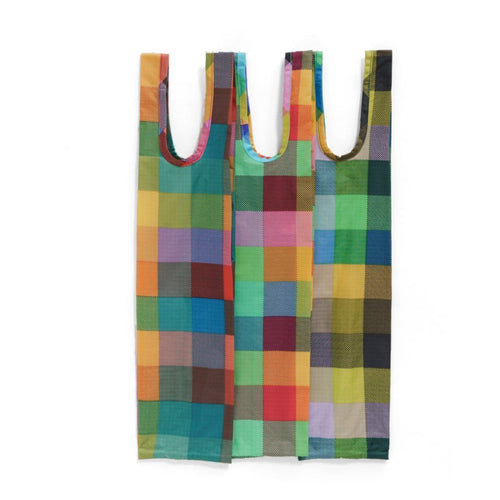Baggu - Wine Bags - Set Of Three - Madras Mix