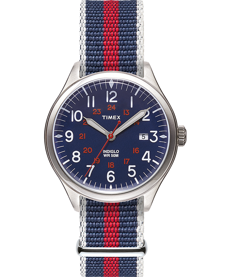 Timex - Timex Waterbury United 38mm Watch - Blue
