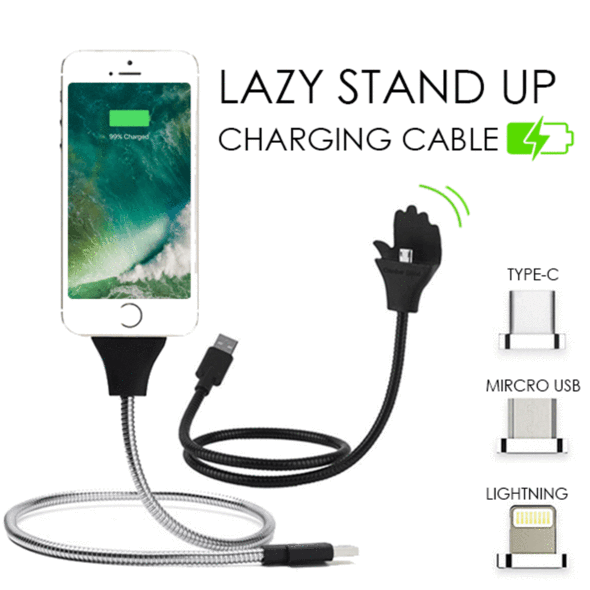 3-in-1 Lazy Stand Up Charging Cable