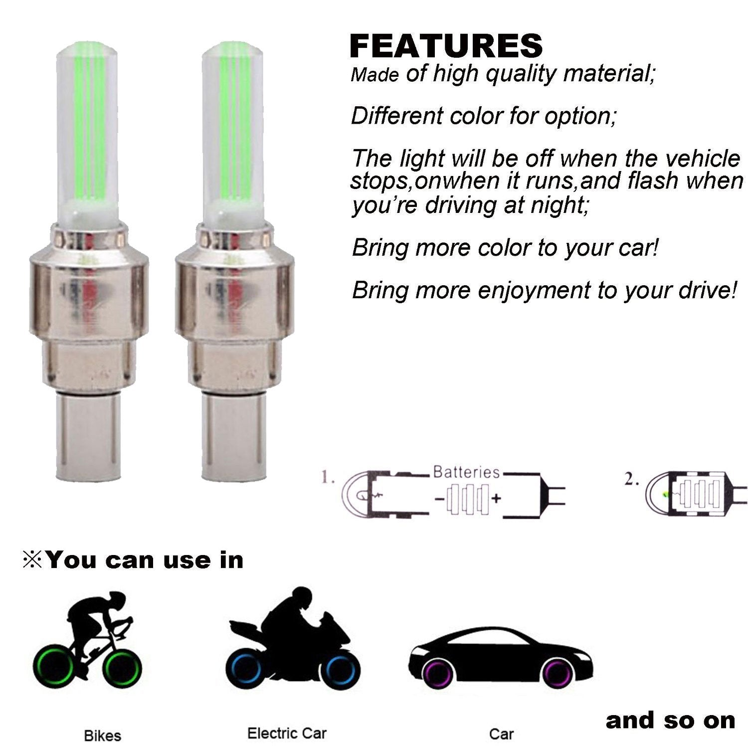 Led Wheel Lights - Buy One Get One Free