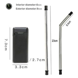 Foldable Stainless Steel Drinking Straw