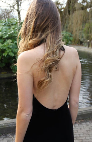 Velvet Backless Formal