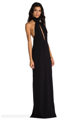 High Neck Maxi Dress by AQ/AQ