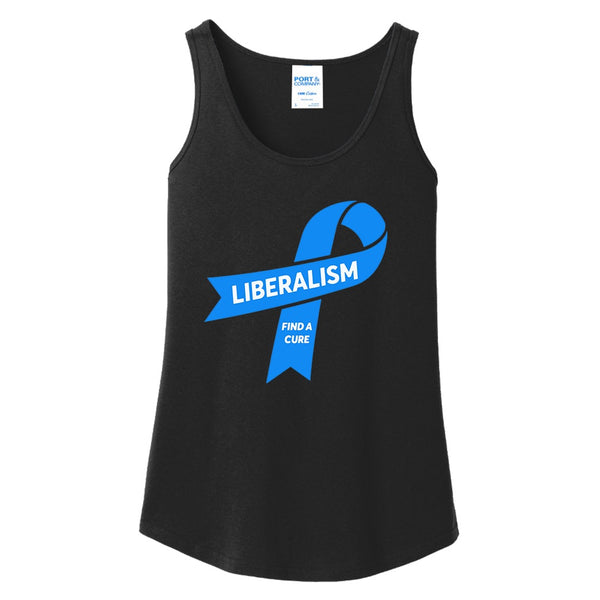 Liberalism (Find a Cure) - Port & Company Ladies Core Cotton Tank Top