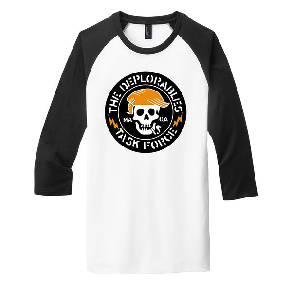 The Deplorables Task Force - District Very Important Tee 3/4-Sleeve Raglan