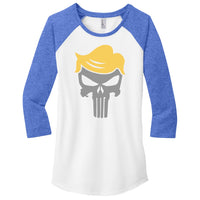 Trump Skull - District Women's Fitted Very Important Tee 3/4-Sleeve Raglan
