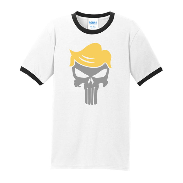 Trump Skull - Port & Company Core Cotton Ringer Tee