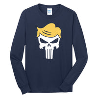 Trump Skull - Port & Company Long Sleeve Core Cotton Tee