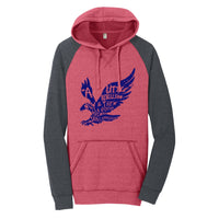 A Little Rebellion - District Lightweight Fleece Raglan Hoodie