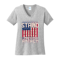 I Proudly Stand - Ladies Core Cotton V-Neck Tee