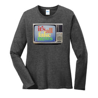 It's All Fake News - Port & Company Ladies Long Sleeve Core Cotton Tee