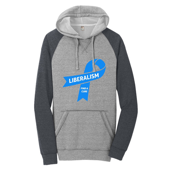 Liberalism (Find a Cure) - District Lightweight Fleece Raglan Hoodie