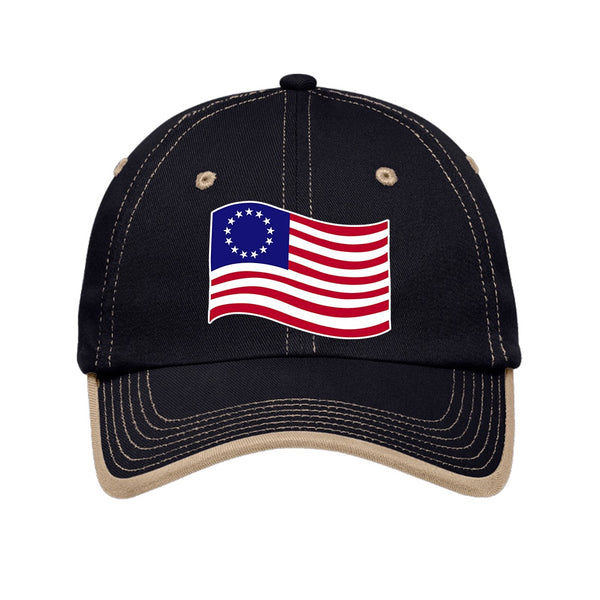 Old Glory - Vintage Washed Contrast Stitch Unstructured Cap