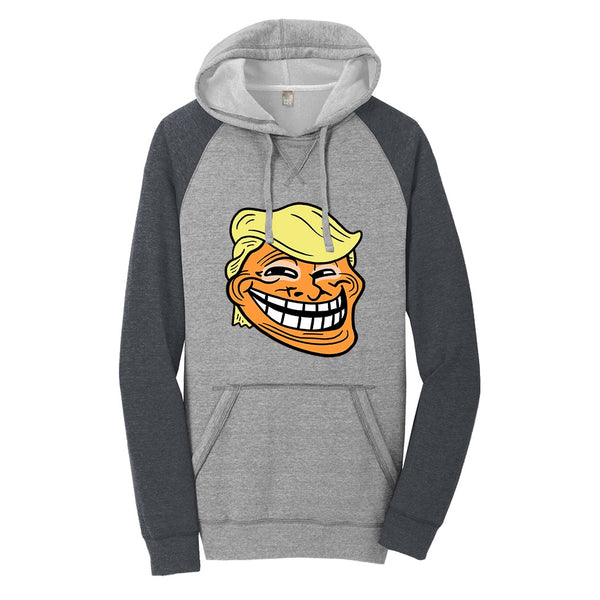 Trump Troll - District Lightweight Fleece Raglan Hoodie