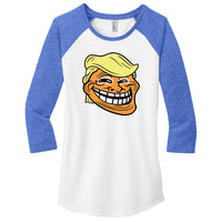 Trump Troll - District Women's Fitted Very Important Tee 3/4-Sleeve Raglan