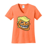 Trump Troll - Port & Company Ladies Core Cotton V-Neck Tee