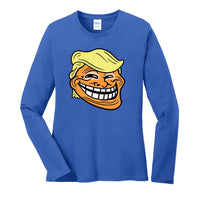 Trump Troll - Port & Company Ladies Long Sleeve Core Cotton Tee