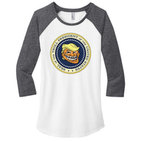 Trump Troll Seal - District Women's Fitted Very Important Tee 3/4-Sleeve Raglan