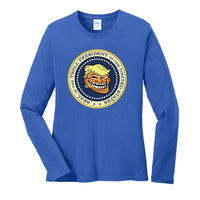 Trump Troll Seal - Port & Company Ladies Long Sleeve Core Cotton Tee