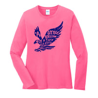 A Little Rebellion - Port & Company Ladies Long Sleeve Core Cotton Tee