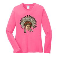 A Warren Thanksgiving - Ladies Long Sleeve Core Cotton Tee