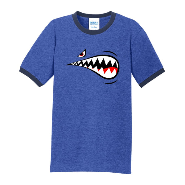 Air Force Shark - Core Cotton Ringer Tee