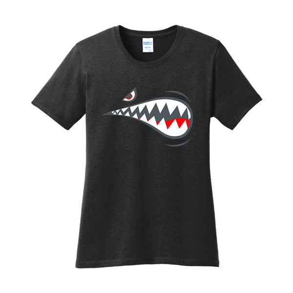 Air Force Shark - Ladies Core Cotton Tee