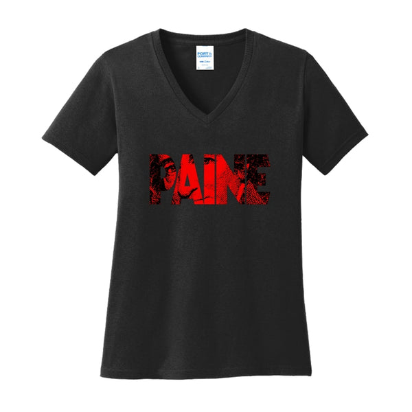 Big Paine - Ladies Core Cotton V-Neck Tee