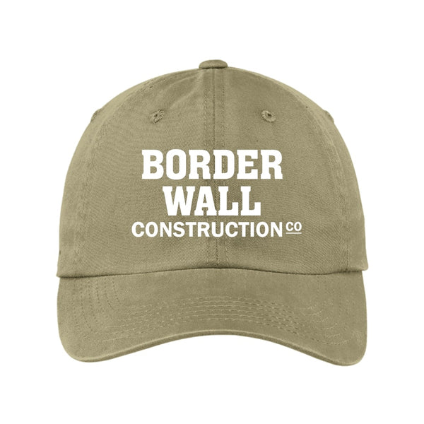 Border Wall Construction Co - Garment Washed Unstructured Cap