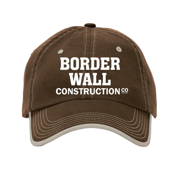 Border Wall Construction Co - Vintage Washed Contrast Stitch Unstructured Cap