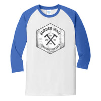Border Wall Construction Co - Core Blend 3/4-Sleeve Raglan Tee