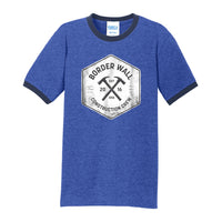 Border Wall Construction Co - Core Cotton Ringer Tee