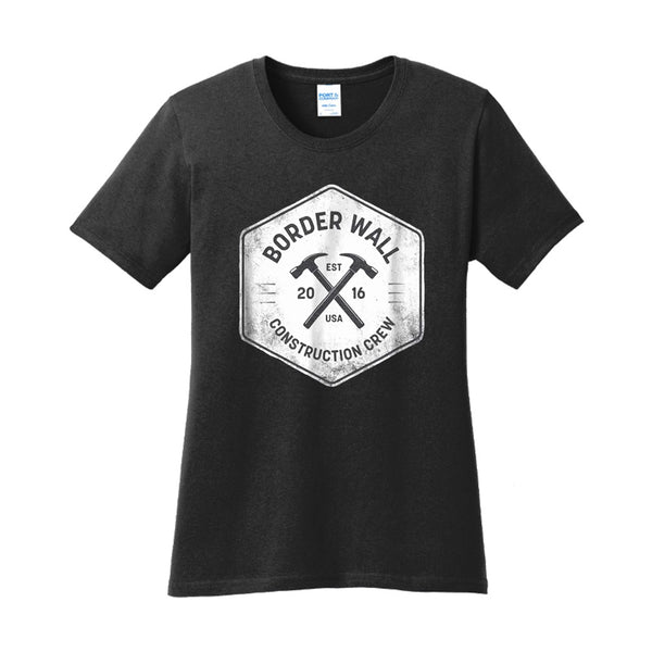 Border Wall Construction Co - Ladies Core Cotton Tee