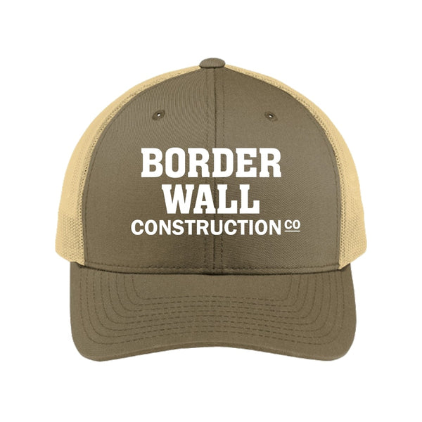 Border Wall Construction Co - Retro Trucker Cap