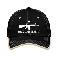 Come & Take It - Port Authority Vintage Washed Contrast Stitch Unstructured Cap