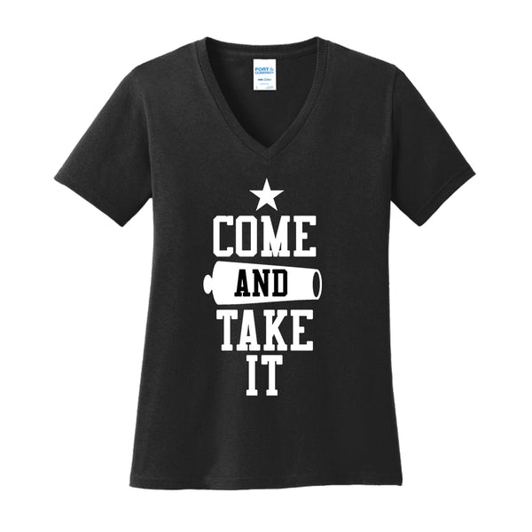 Come & Take It - Ladies Core Cotton V-Neck Tee