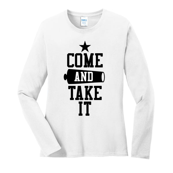 Come & Take It - Ladies Long Sleeve Core Cotton Tee