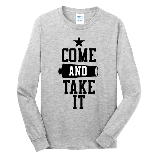 Come & Take It - Long Sleeve Core Cotton Tee