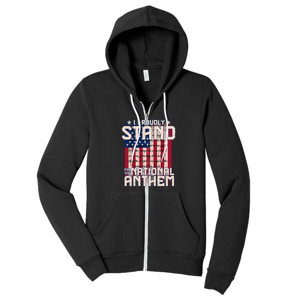 I Proudly Stand - Sponge Fleece Full-Zip Hoodie