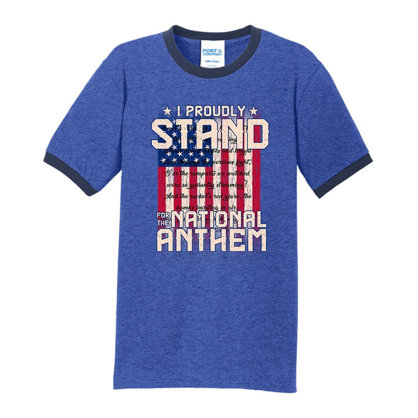 I Proudly Stand - Core Cotton Ringer Tee